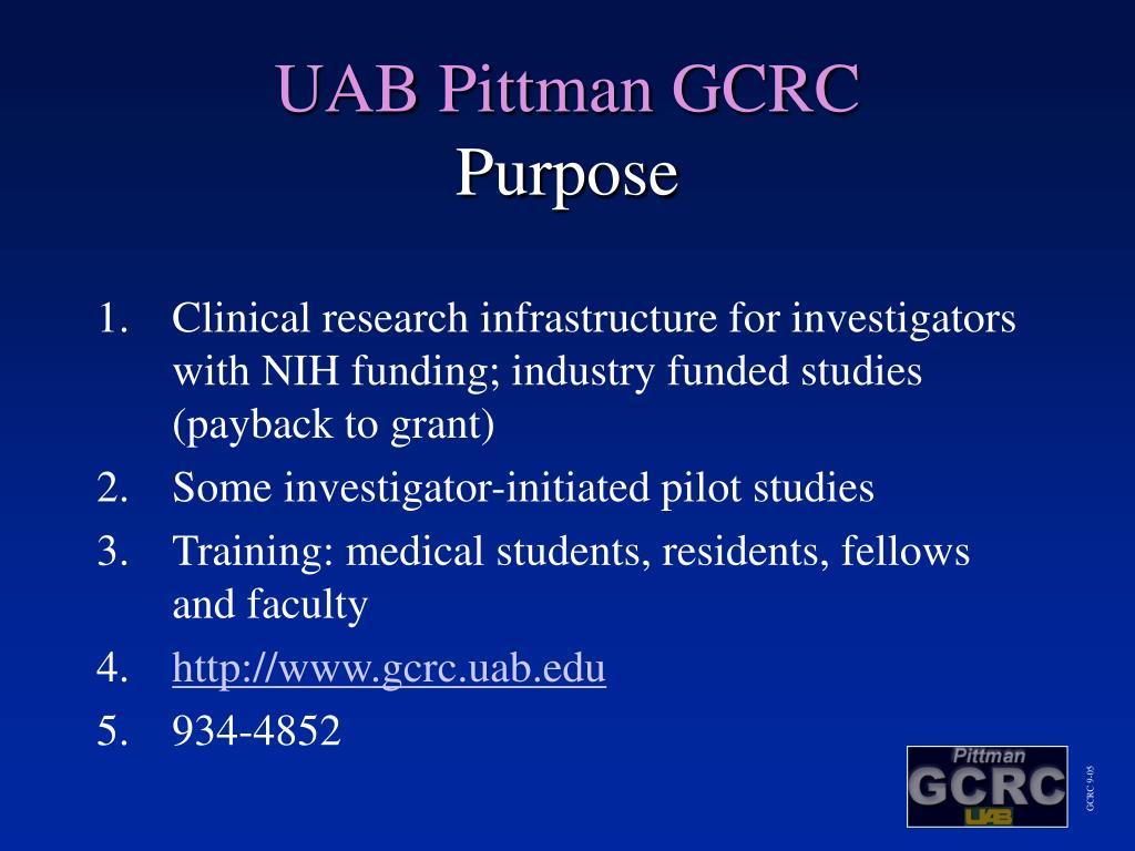 UAB Pittman GCRC