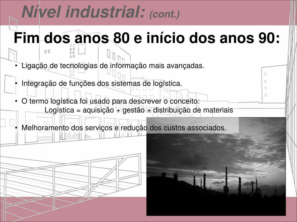 Nível industrial: