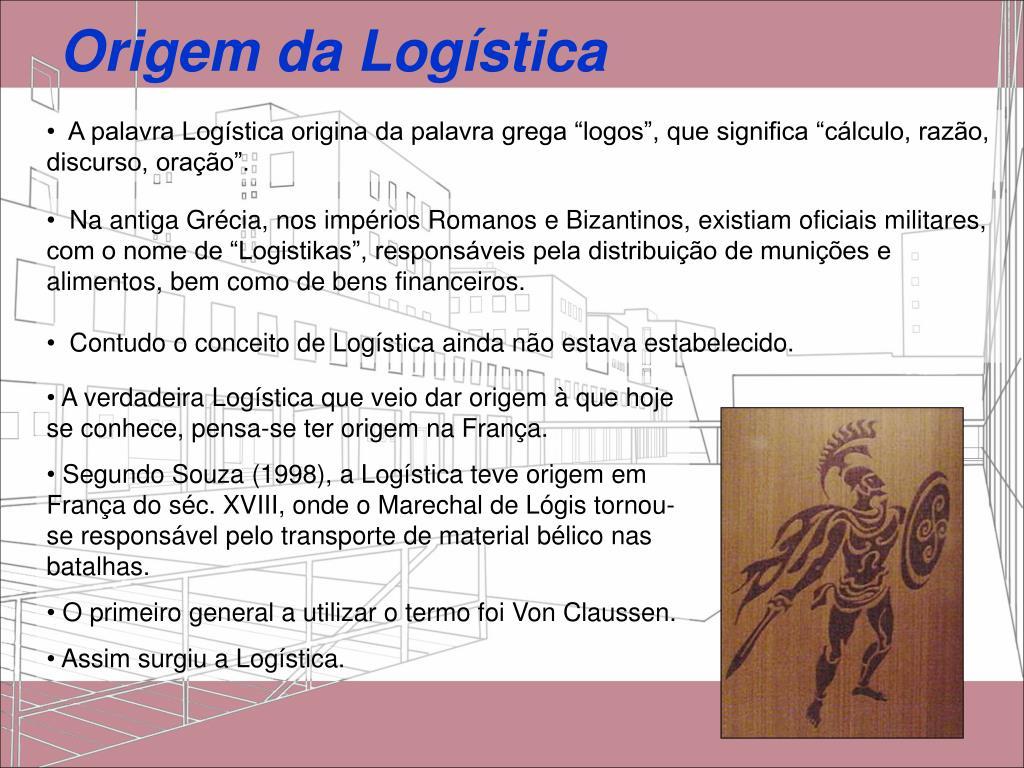 Origem da Logística