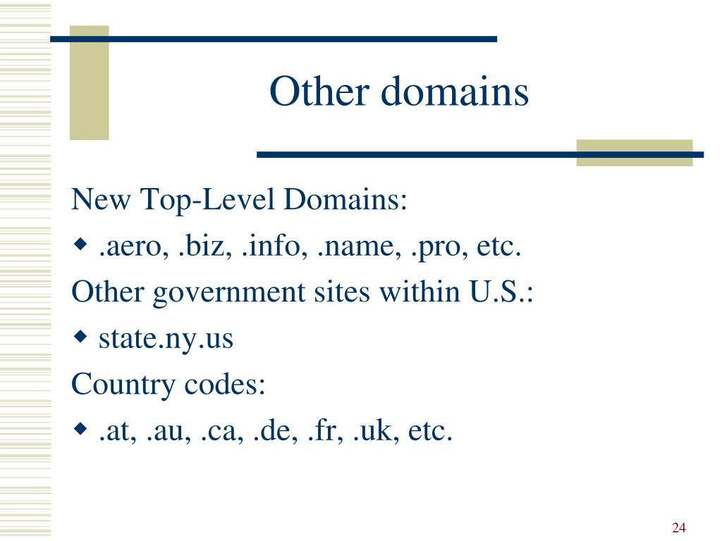 Other domains