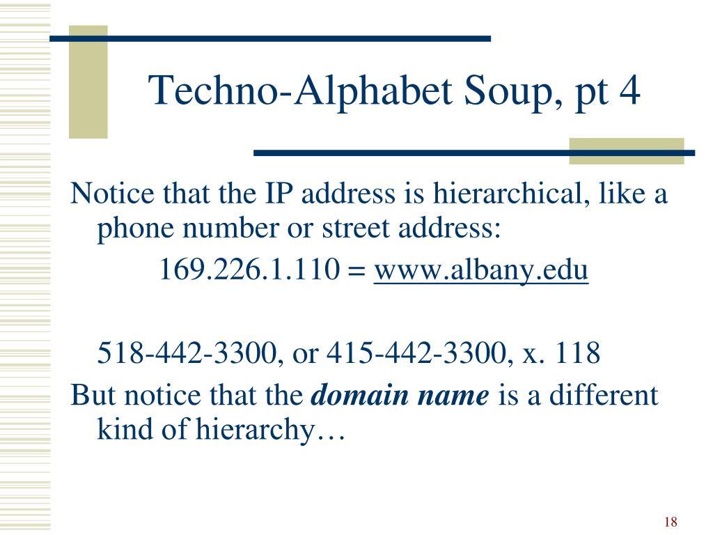 Techno-Alphabet Soup, pt 4