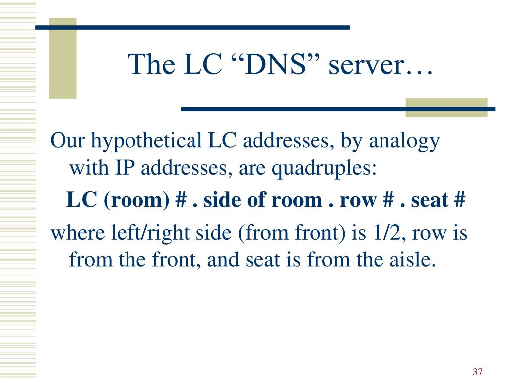 "The LC ""DNS"" server…"