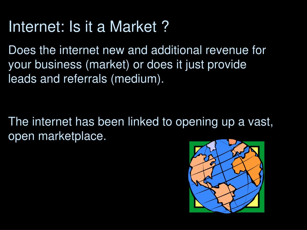 Internet: Is it a Market ?
