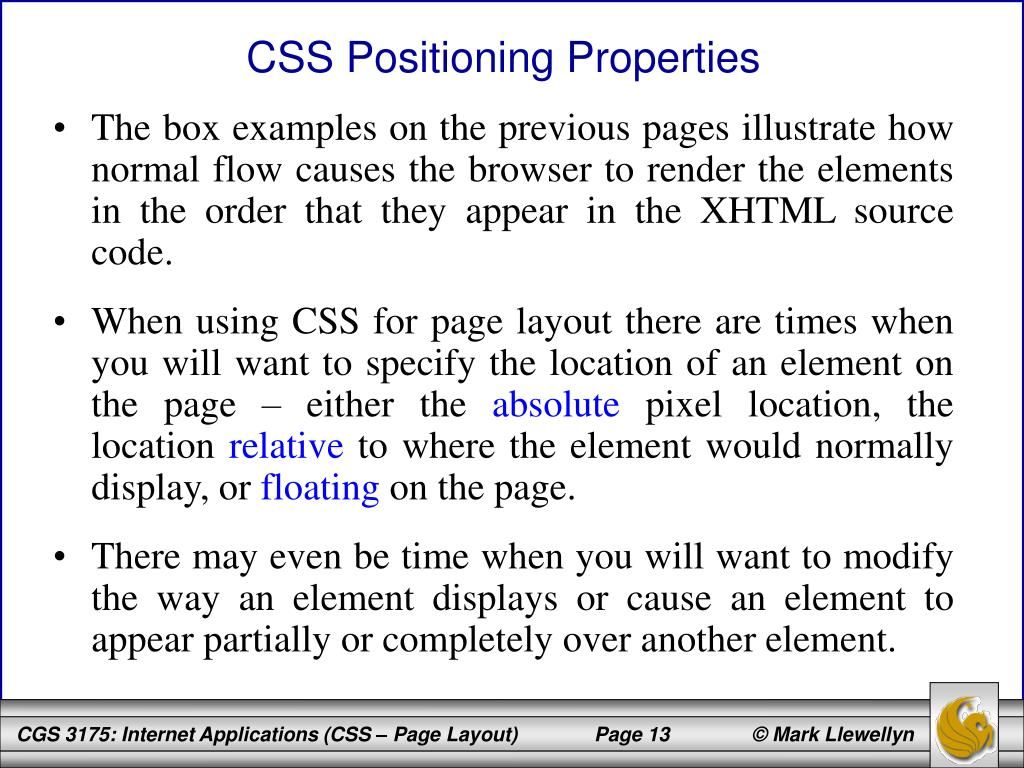 CSS Positioning Properties
