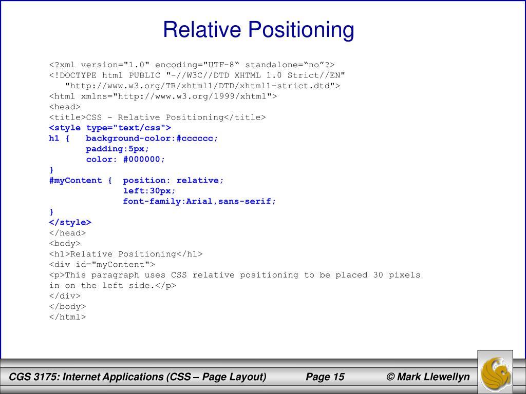 Relative Positioning