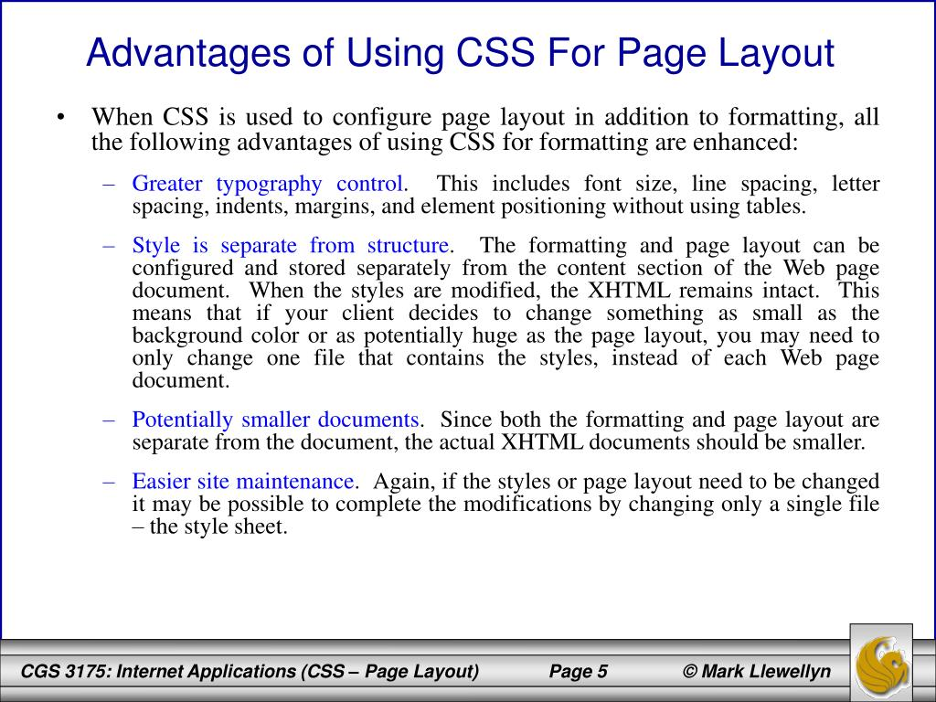 Advantages of Using CSS For Page Layout