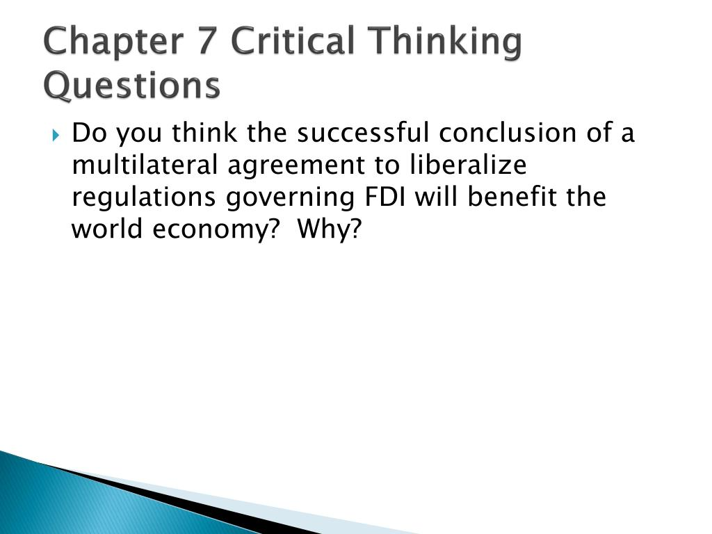 chapter 1 critical thinking questions 1 Chapter 1 answers to exercises exercise 11 1 critical thinking is the systematic evaluation or formulation of beliefs, or statements, by ra- tional standards 2.
