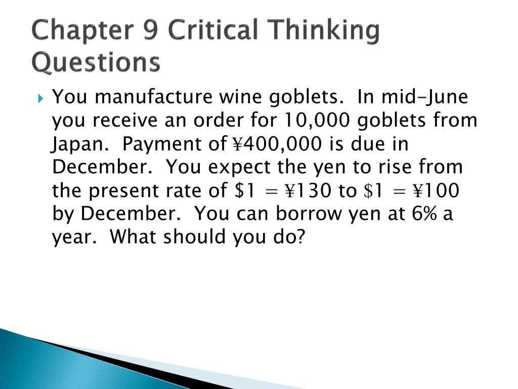 chapter 1 critical thinking questions 1 Information systems chapter 4 review questions 9-15 critical thinking questions 1 – 2 (page 179) 1005 words | 5 pages chapter 4 review questions 9-15 (page 179) 9.