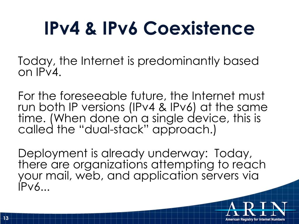 IPv4 & IPv6 Coexistence