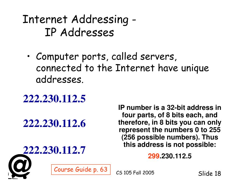 Internet Addressing -