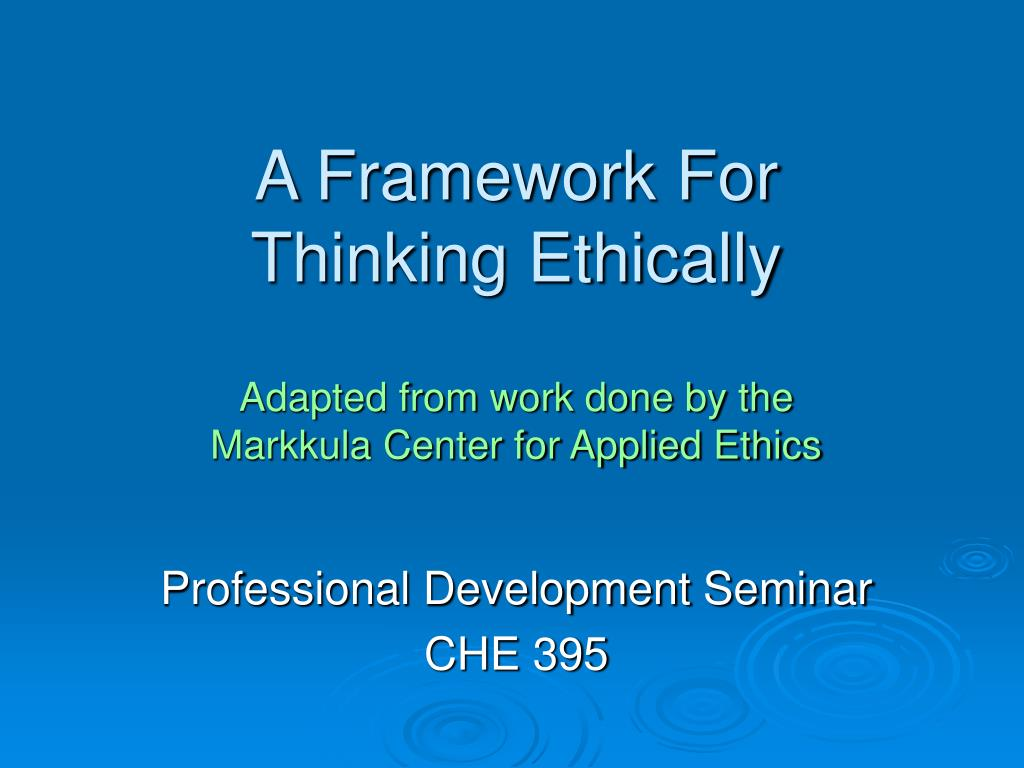 thinking ethically This book explores connecting avenues of professional responsibility, management theory and traditional ethics, and encourages an understanding of the reasons for thinking ethically in business contexts.