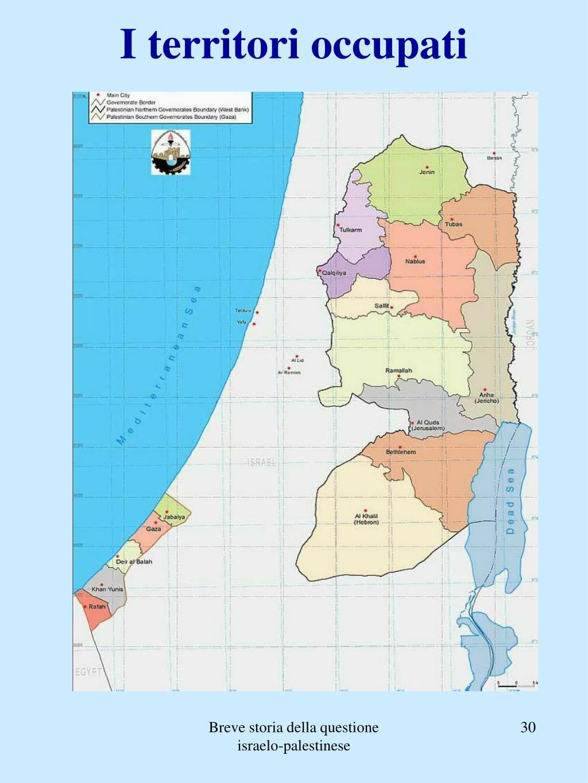 I territori occupati