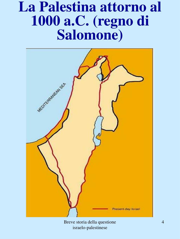 La Palestina attorno al 1000 a.C. (regno di Salomone)
