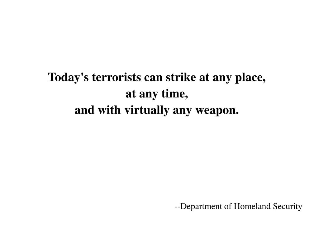 --Department of Homeland Security
