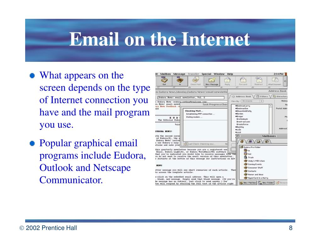 Email on the Internet