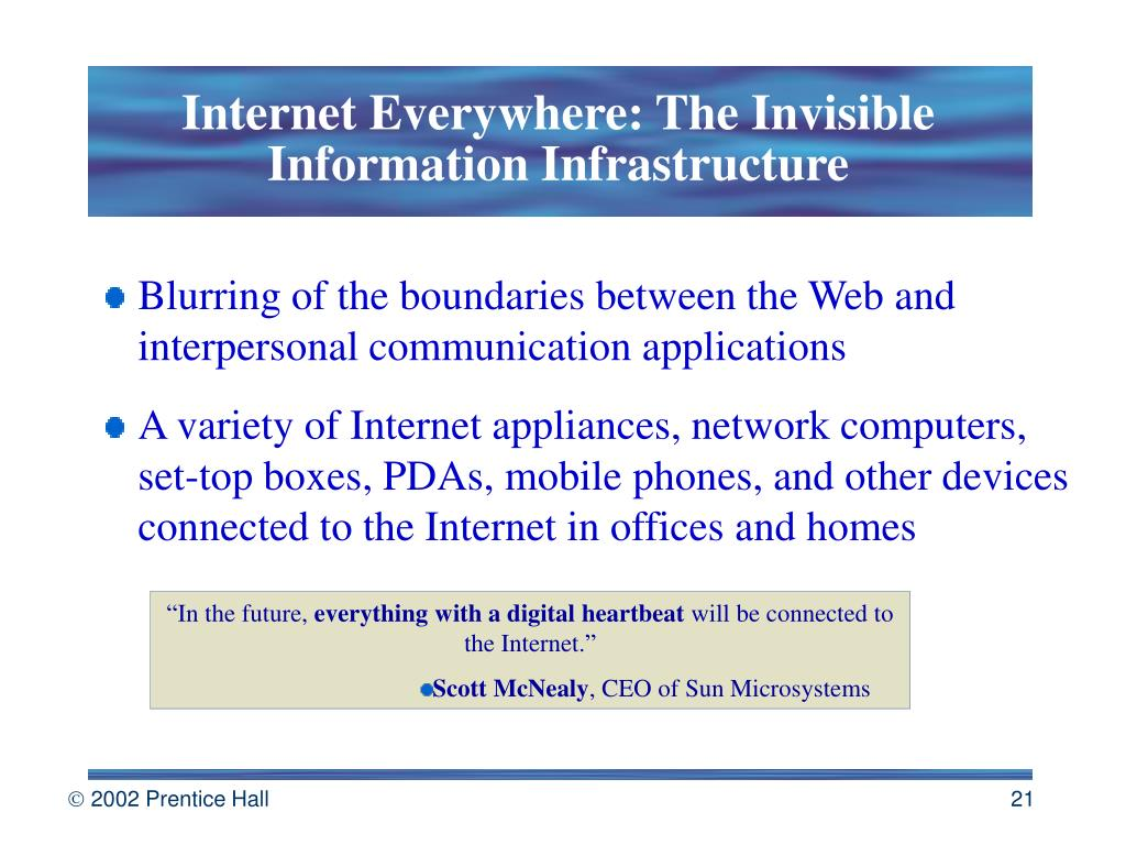 Internet Everywhere: The Invisible Information Infrastructure