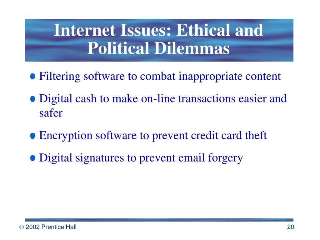 Internet Issues: Ethical and Political Dilemmas