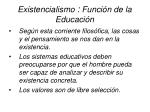 existencialismo funci n de la educaci n