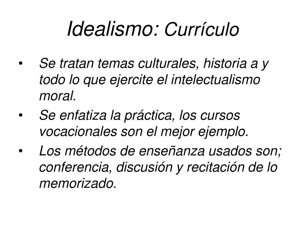 Idealismo: