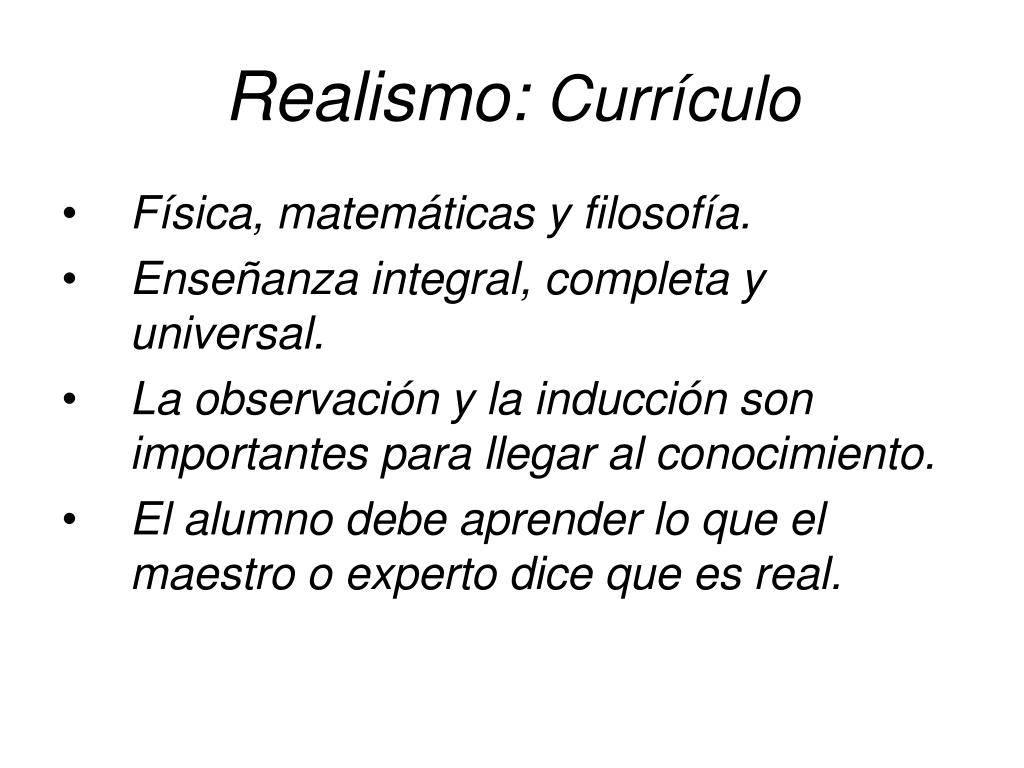 Realismo: