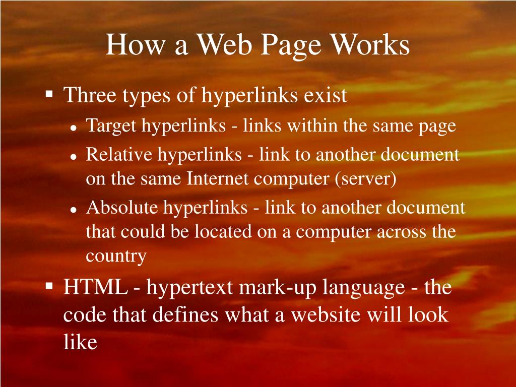 How a Web Page Works