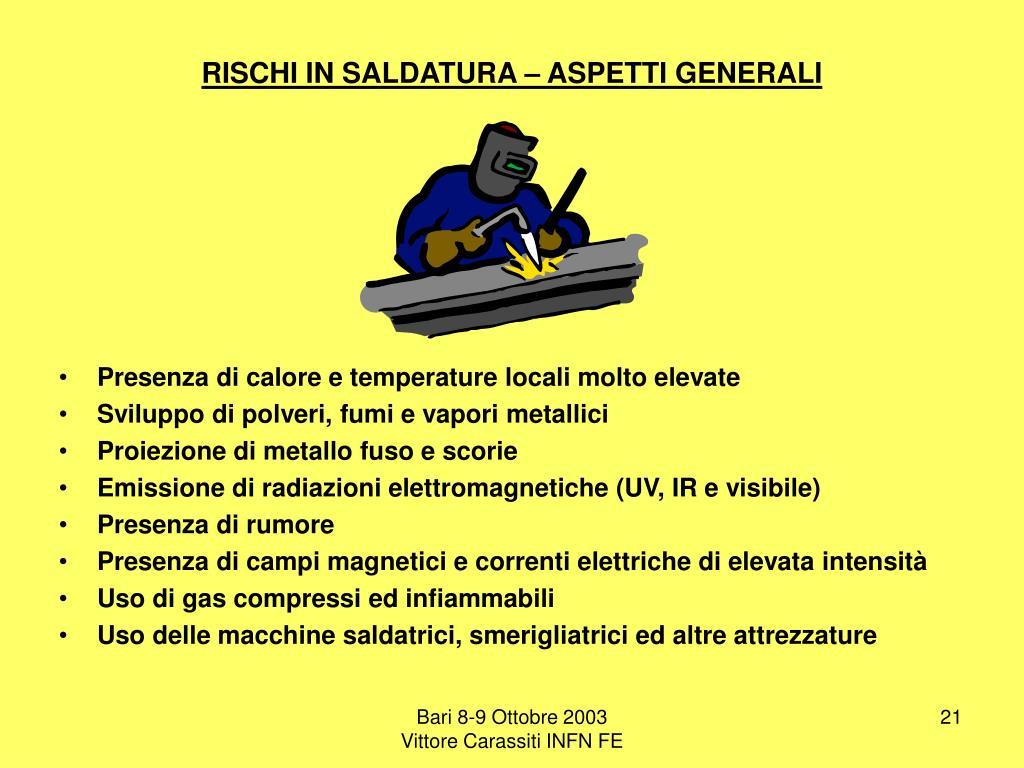 Ppt i rischi meccanici ed elettrici nell infn il lavoro - Rischi in cucina ppt ...