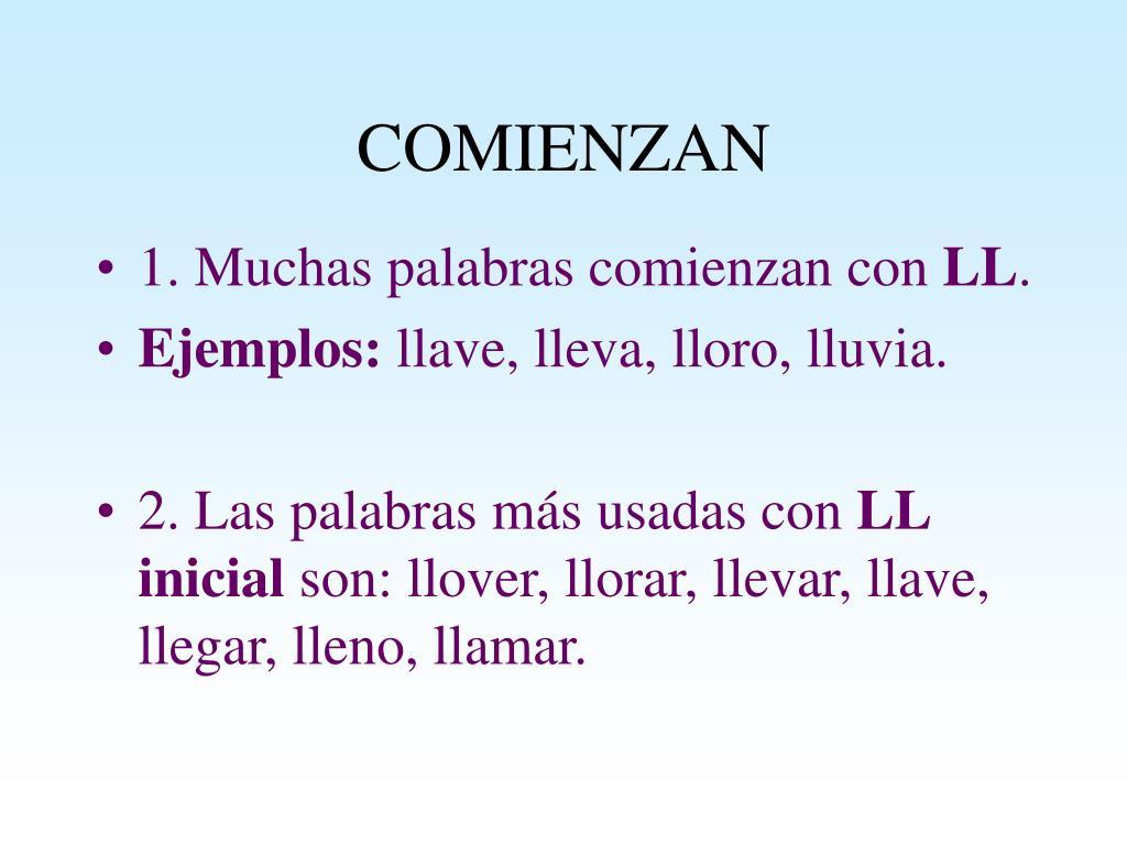 COMIENZAN