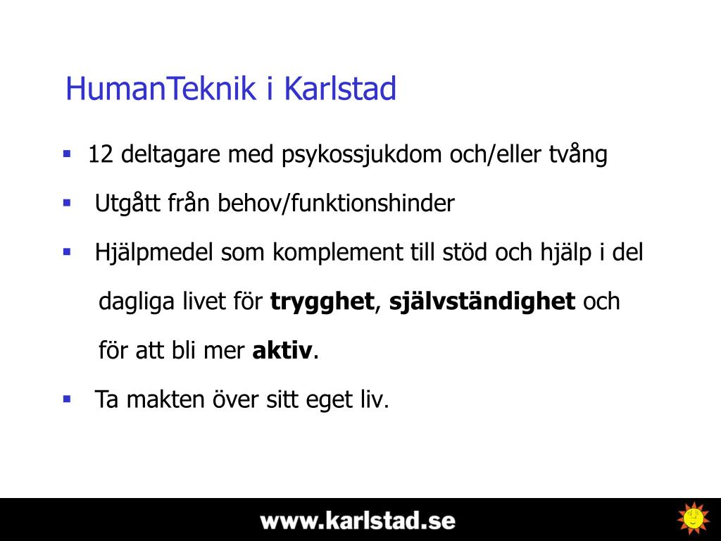 HumanTeknik i Karlstad