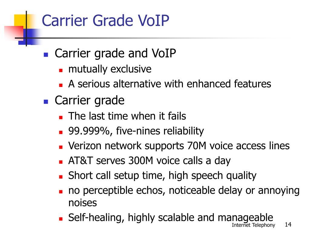 Carrier Grade VoIP