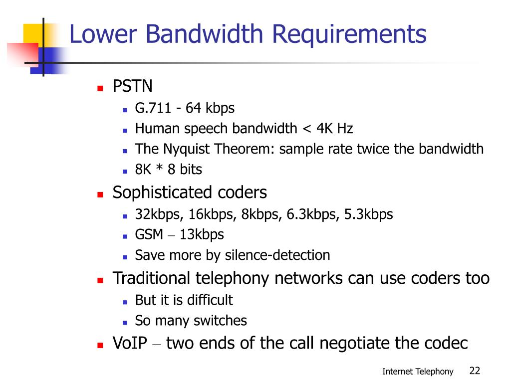 Lower Bandwidth Requirements