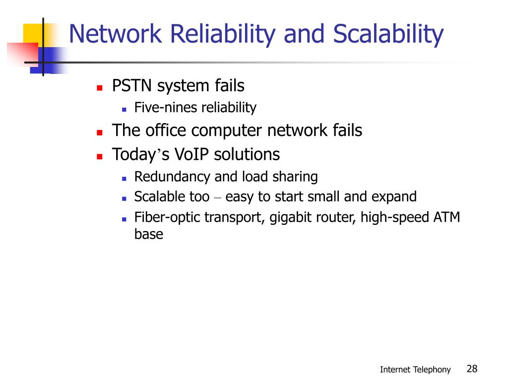 Network Reliability and Scalability