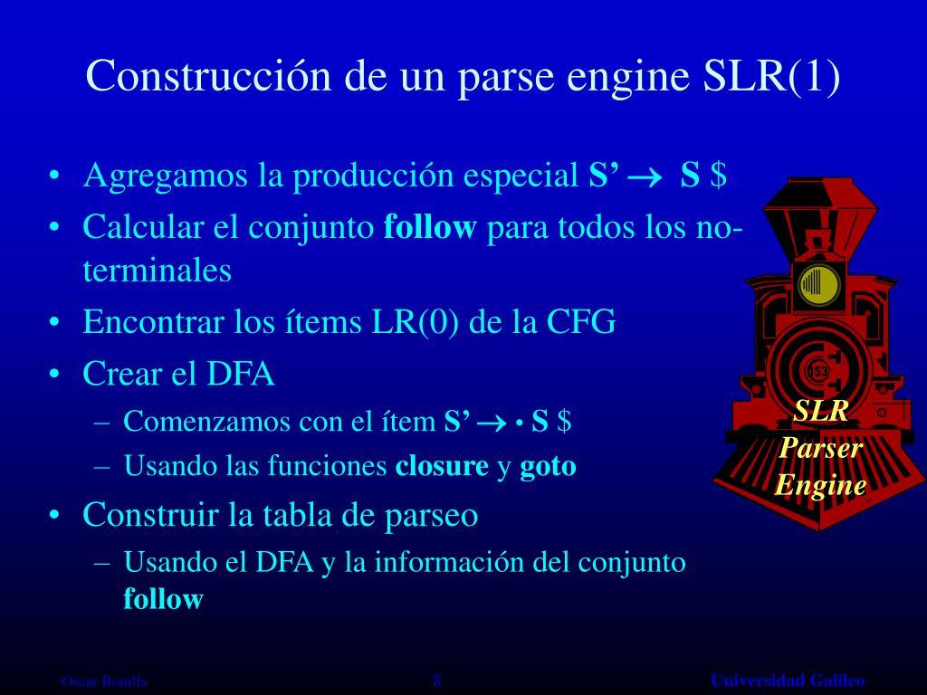 Construcción de un parse engine
