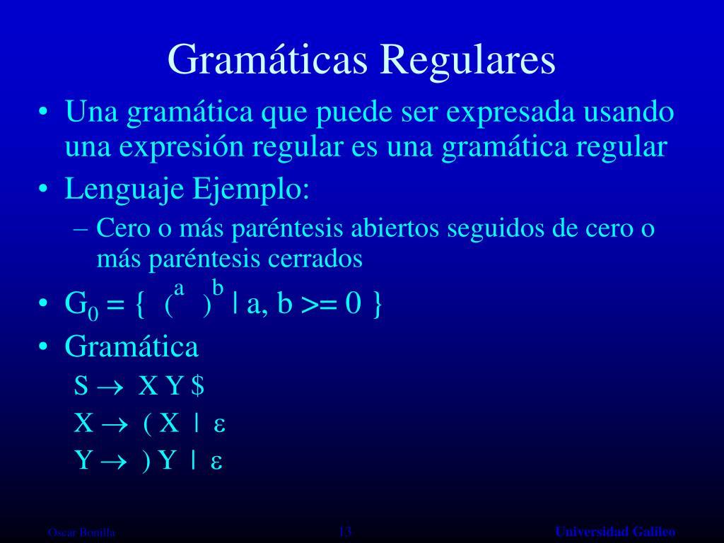 Gramáticas Regulares