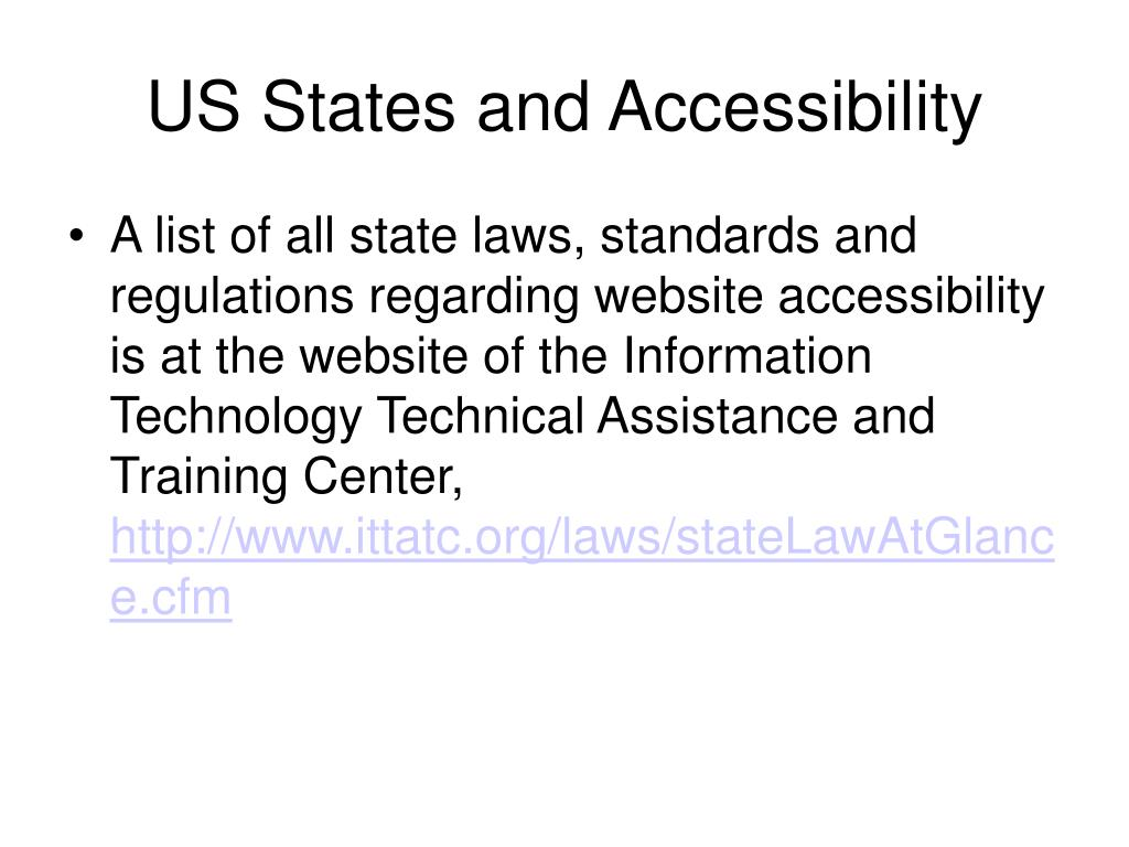 US States and Accessibility