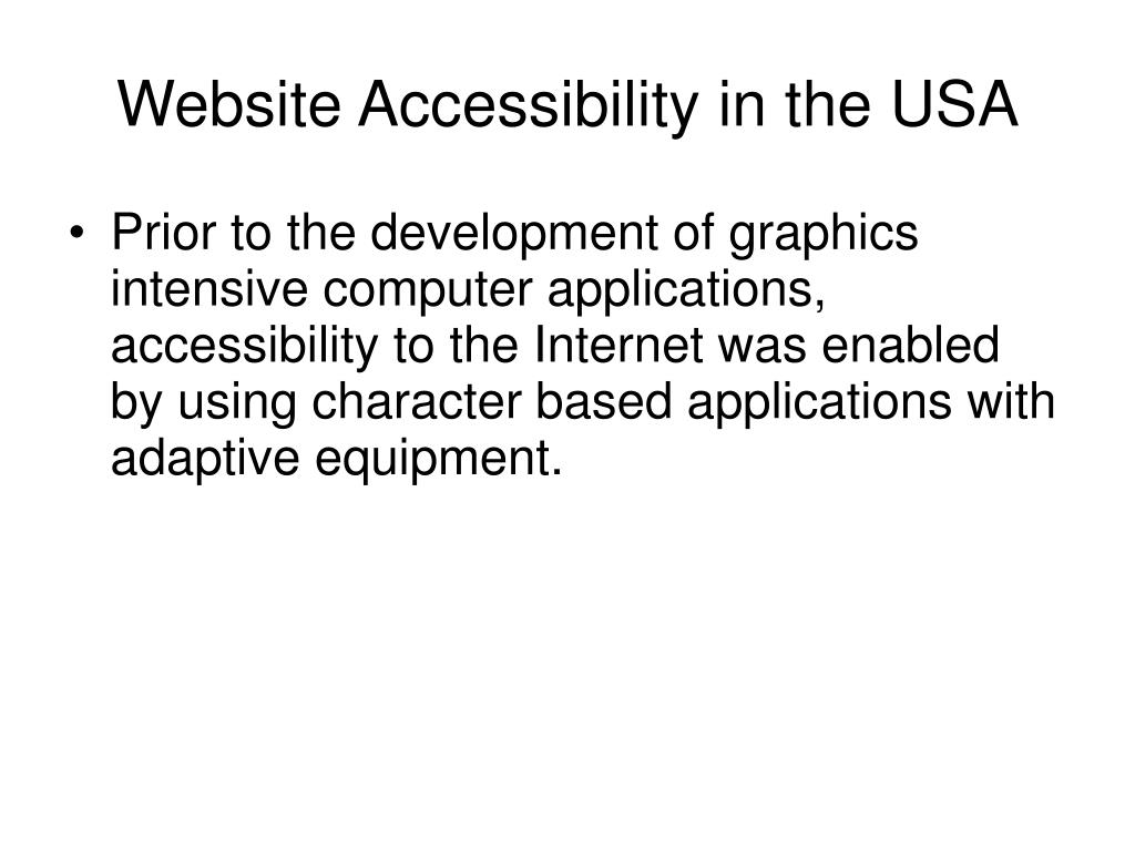 Website Accessibility in the USA