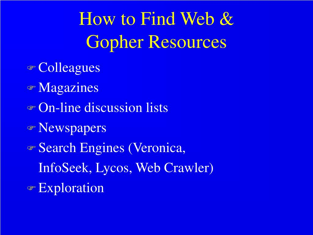 How to Find Web &