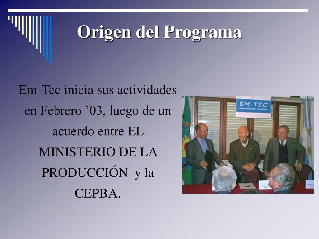 Origen del Programa