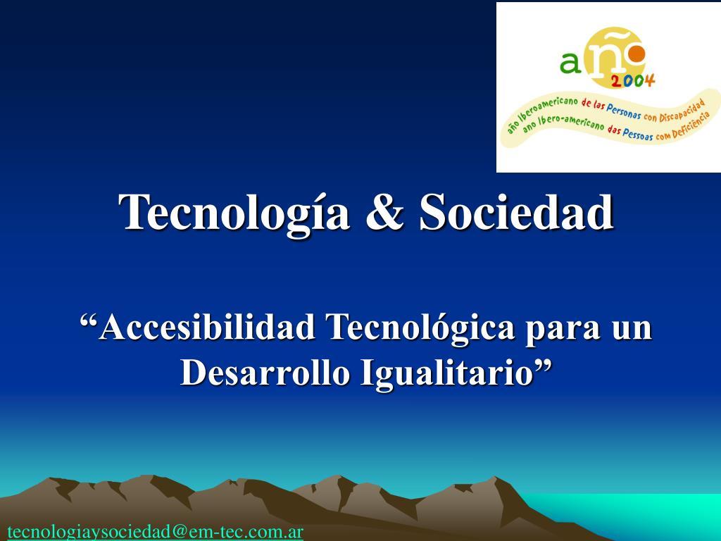Tecnología & Sociedad