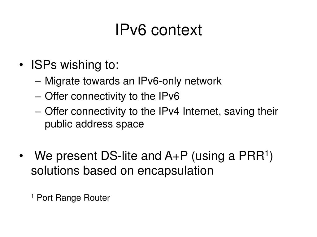 IPv6 context