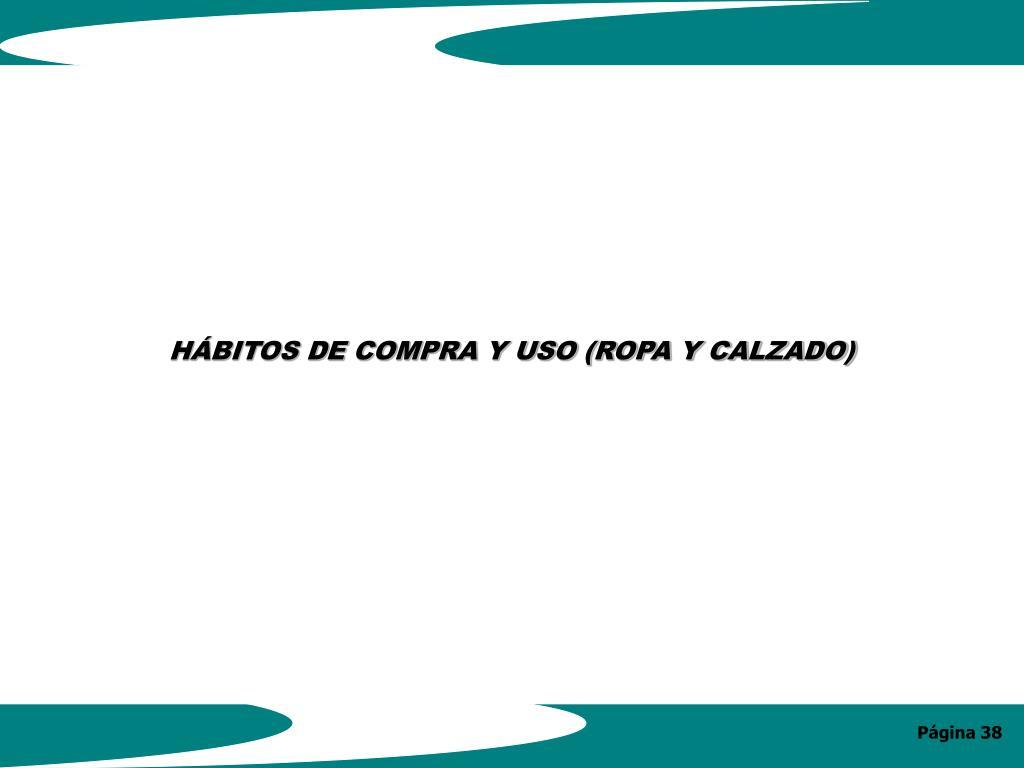HÁBITOS DE COMPRA Y USO (ROPA Y CALZADO)