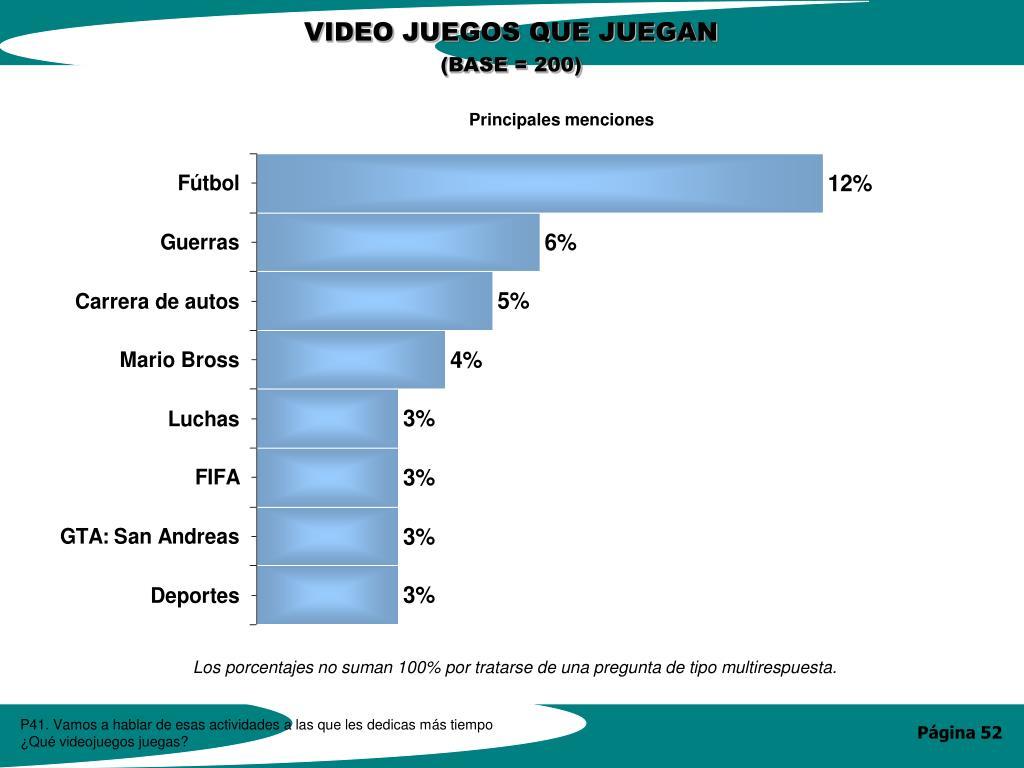 VIDEO JUEGOS QUE JUEGAN