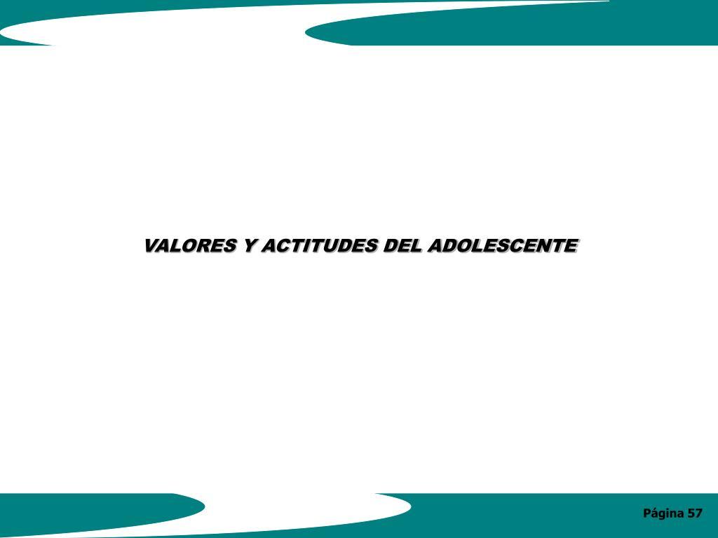 VALORES Y ACTITUDES DEL ADOLESCENTE
