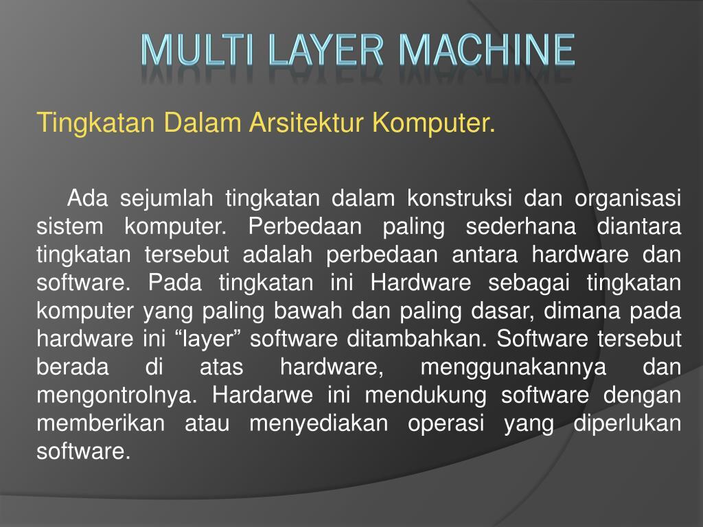 Tingkatan Dalam Arsitektur Komputer.