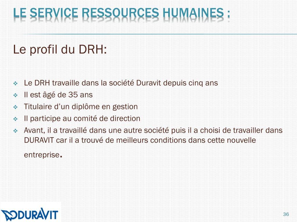 Le profil du DRH: