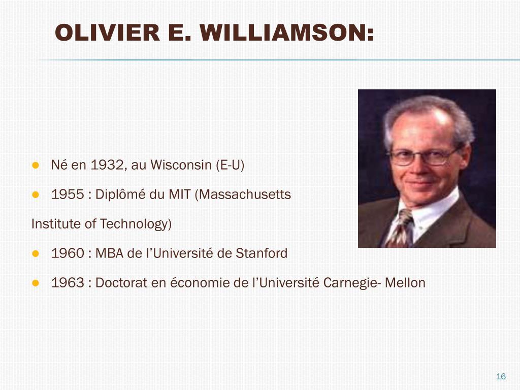 OLIVIER E. WILLIAMSON: