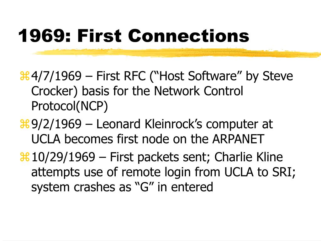 1969: First Connections