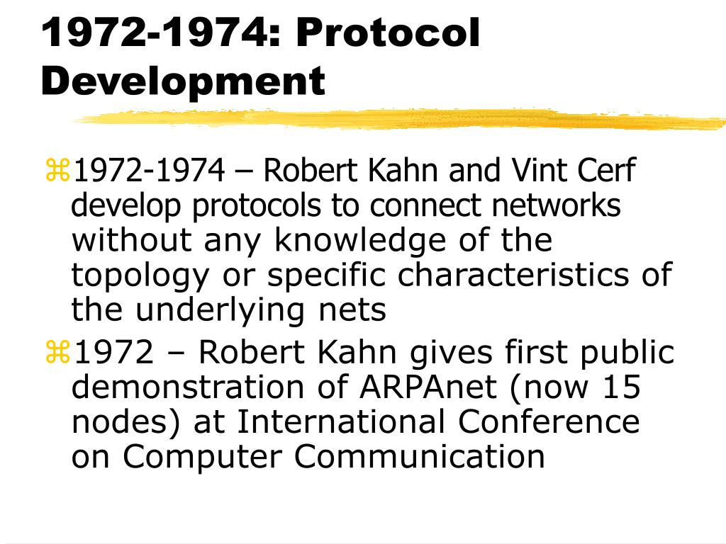 1972-1974: Protocol Development