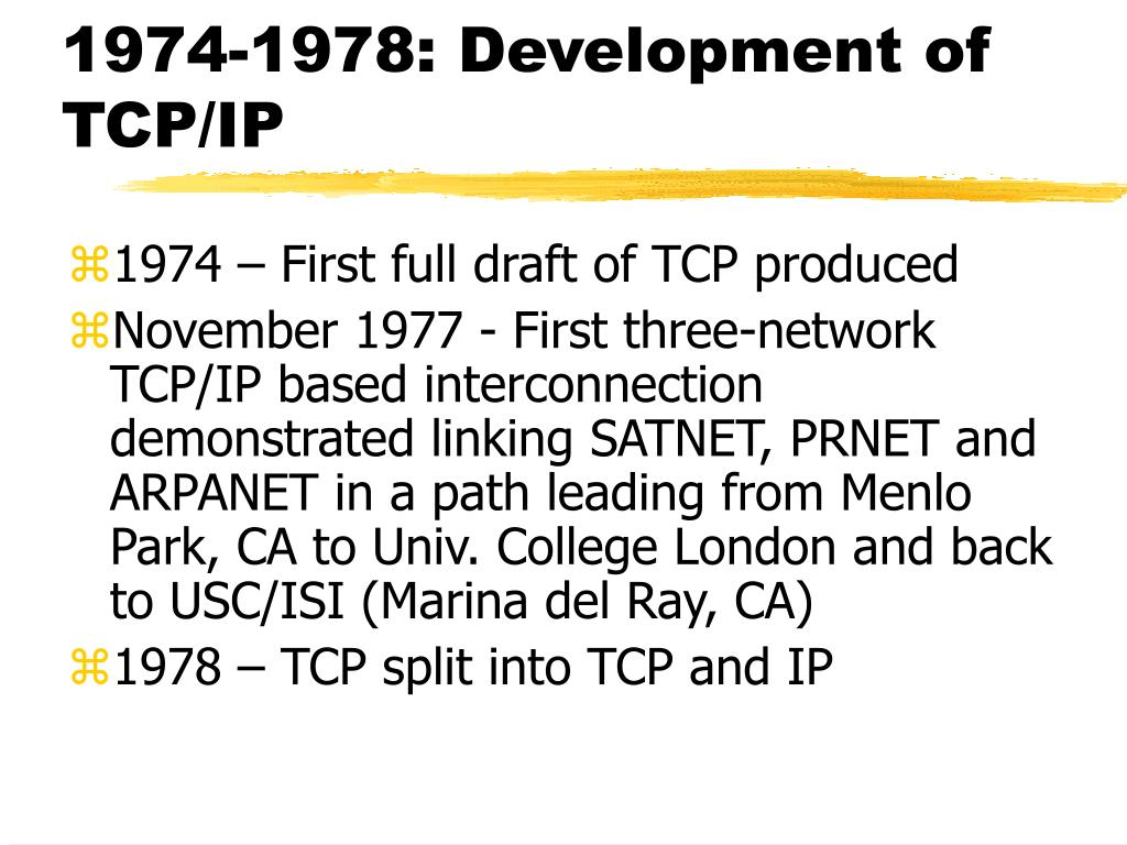 1974-1978: Development of TCP/IP