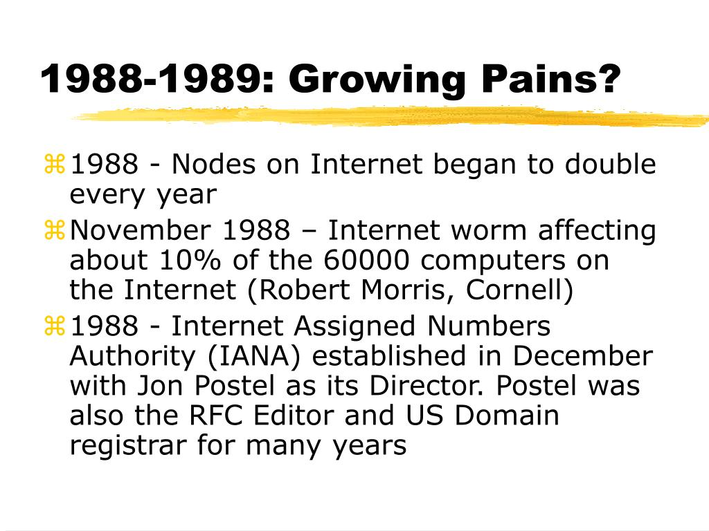 1988-1989: Growing Pains?