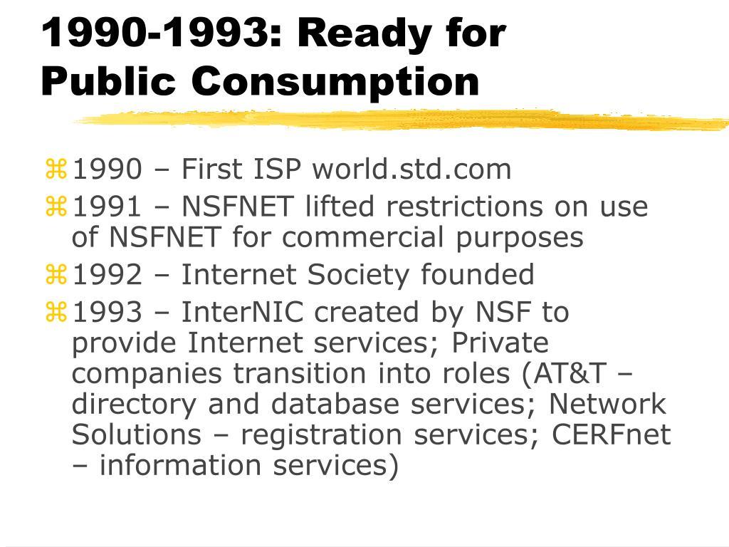 1990-1993: Ready for Public Consumption
